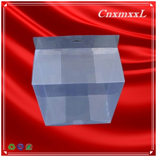 Clear plastic box with PVC material in custom design